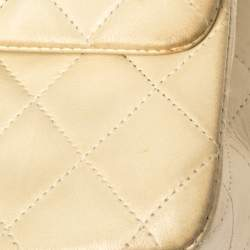 Chanel Cream Quilted Leather Classic Small Double Flap Bag