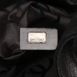Chanel Black Quilted Suede Vintage CC Tote Bag