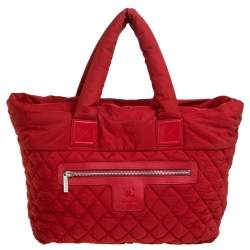 Chanel Red Nylon Coco Cocoon Tote