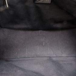 Chanel Black Leather and Fur Satchel