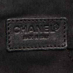 Chanel Black Lambskin Leather Vintage CC Tote Bag