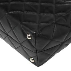 Chanel Black Quilted Leather Shopper Tote