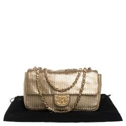 Chanel Gold Leather 31 Rue Cambon Medium Classic Single Flap Bag
