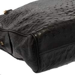 Chanel Black Ostrich Vintage Chain Bag