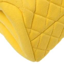 Chanel Yellow Quilted Jersey Small Just Mademoiselle Bowler Bag