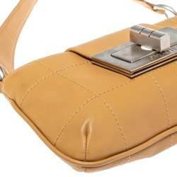 Chanel Tan Cube Quilted Leather Mademoiselle Lock Flap Bag