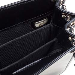 Chanel Black Patent and Leather CC Phone Holder Crossbody Bag
