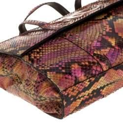Chanel Multicolor Python Vintage CC Flap Tote