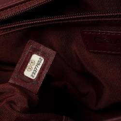 Chanel Burgundy Quilted Leather and Tweed Trim New Medium Jacket Boy Flap Bag