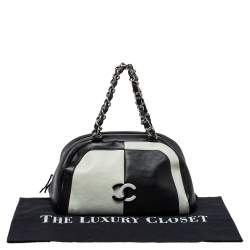 Chanel Bicolor Leather CC Bowling Bag