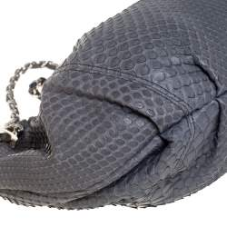 Chanel Grey Python CC Hobo