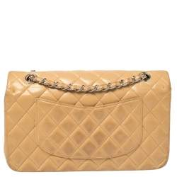 Chanel Beige Quilted Leather Medium Classic Double Flap Bag