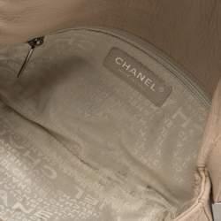 Chanel Light Beige Leather Wild Stitch Flap Bag
