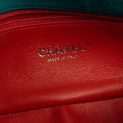 Chanel Aqua Green Vertical Quilted Jersey New Mini Flap Bag
