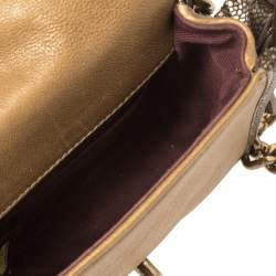 Chanel Brown Quilted Leather and Caviar Leather Paris Bombay Back To School Mini Bag