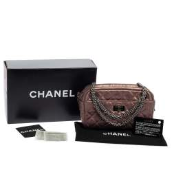Chanel Rose Fonce Quilted Leather Small Reissue 2.55 Camera Bag