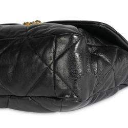 Chanel Black Quilted Lambskin Leather 19 Large Flap Bag