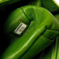 Chanel Green Quilted Velvet New Mini Classic Flap Bag