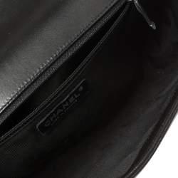 حقيبة شانيل قلاب بوي متوسطة نيو جلد سوداء