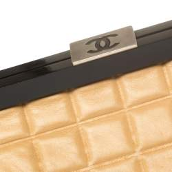 Chanel Tan Chocolate Bar Quilted Leather Frame Bag