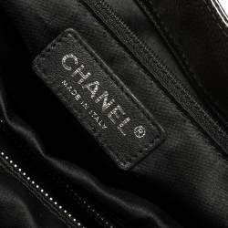 Chanel Dark Grey Quilted Caviar Patent Leather Reissue Tote