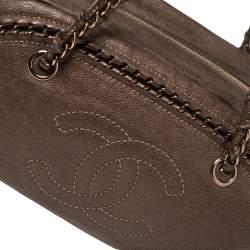 حقيبة شانيل لوكس ليغن بولر حواف سلسلة متوسطة جلد سوداء