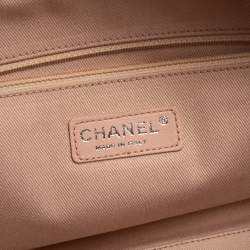 Chanel Pink Canvas Deauville Bowler Bag