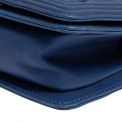 Chanel Blue Woven Lambskin Leather Paris-Versailles Mini Boy Bag