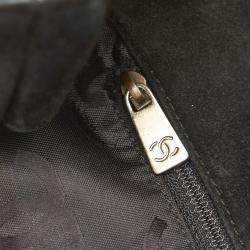 Chanel Black Suede Vintage CC Tote Bag