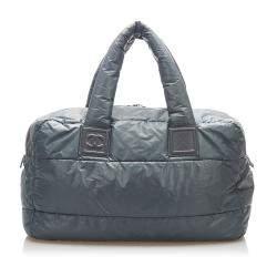 Chanel Grey Nylon Coco Cocoon Bag