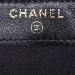 Chanel Black Quilted Leather Boy Phone Holder Clutch