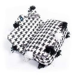 Chanel White/Black Tweed Flap Bag