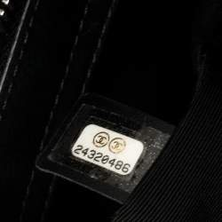 حقيبة شوبنغ شانيل أربان كامبانيون جلد كافيار أسود مبطن