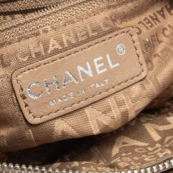 Chanel Brown Leather Accordion Zipper Bag