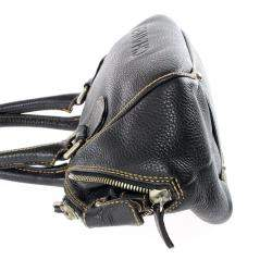 Chanel Black Leather LAX Bowler Bag