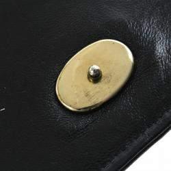 Chanel Black Patent Leather Vintage CC Stitch Flap Bag