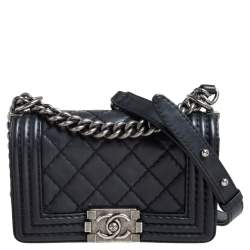 Chanel Black Quilted Leather Small Boy Flap Bag