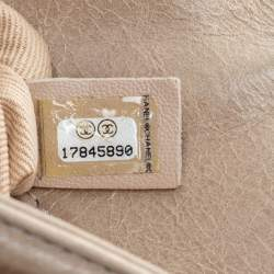 Chanel Beige Quilted Leather Large Boy Flap Bag