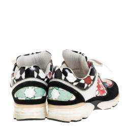Chanel Multicolor Printed PVC And Leather CC Low Top Sneakers Size 36.5