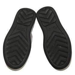 Chanel White/Black Leather Interlocking CC Logo Chunky Sneakers EU 37