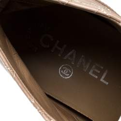 Chanel Tri Color Leather CC High Top Sneakers Size 36.5