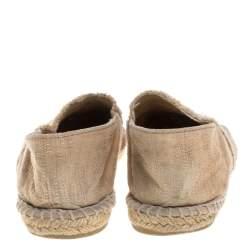حذاء إسبادريل شانيل فلات غطاء مقدمة سى سى كانفاس بيج مقاس 38