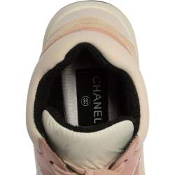 Chanel Multicolor Suede And Leather CC Sneakers Size 38.5