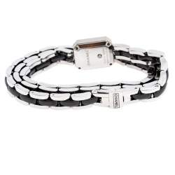 Chanel Black Ceramic Stainless Steel Diamond Premiere Women's Wristwatch 15 mm