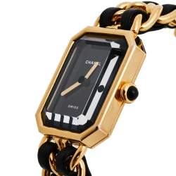 Chanel Black Gold Plated Stainless Steel Premiere H0001 Women's Wristwatch 20 mm