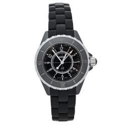 ساعة يد للجنسين شانيلr J12 H0681  مطاط وسيراميك أسود 33 مم