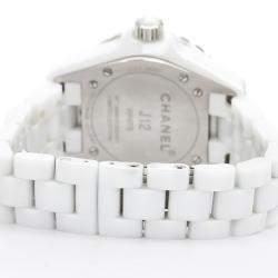 ساعة يد نسائية شانيل جي12 كوارتز أتش3442 سيراميك بيضاء 33 مم