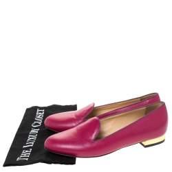حذاء لوفرز شارلوت أوليمبيا جلد وردي مقاس 37.5