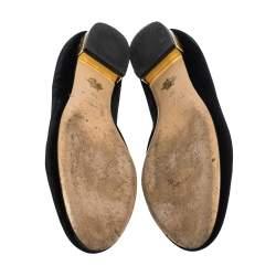 حذاء فلات باليه شارلوت أوليمبيا ساتان أسود كيتي مقاس 39