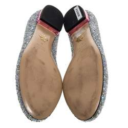 حذاء باليرينا فلات شارلوت أوليمبيا فضي لامع مقاس 41
